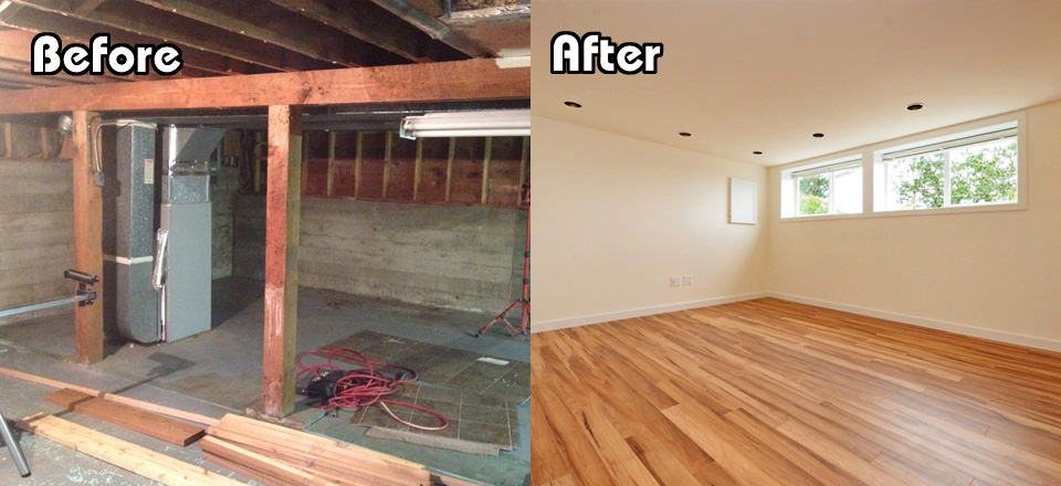 Before and After Basement 2