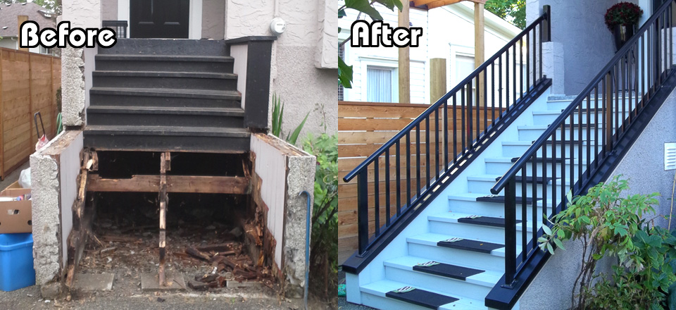 Before and After Corrine Stairs