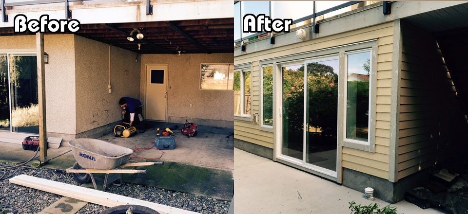 Before and After Porter Deck