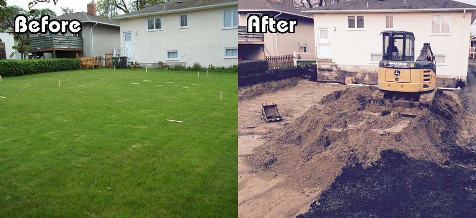 Before and After Rear Yard