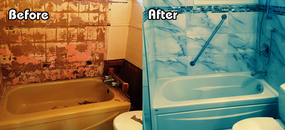 Before and After Smart Bath